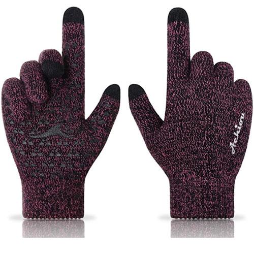 Achiou Touchscreen Knit Winter Gloves