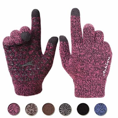 Achiou Touchscreen Knit Winter Gloves