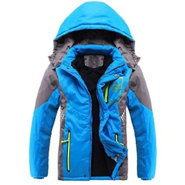 Ausom Fashion Thicken Fleece Hooded Ski Jacket For Kids