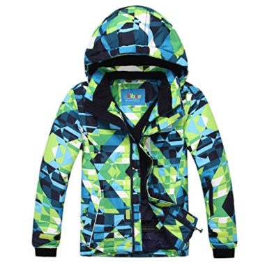 PHIBEE Big Boy's Waterproof Breathable Ski Jacket For Kids