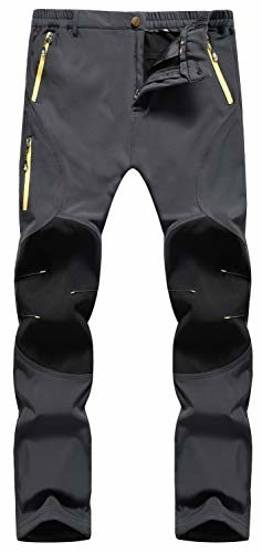 Singbring Outdoor Fleece Lined Windproof Ski Pants