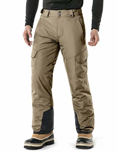 TSLA Men's Rip-Stop Insulated Ski Pants