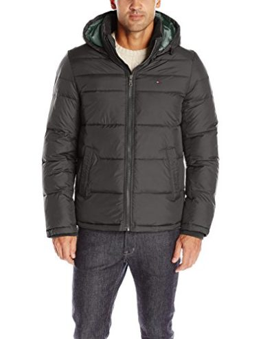 Tommy Hilfiger Men's Hooded Puffer Winter Jacket
