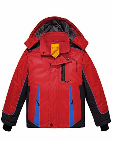 Wantdo Boy's Waterproof Ski Jacket For Kids