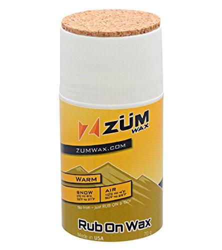 Zumwax Warm Temperature Rub On Ski and Snowboard Wax
