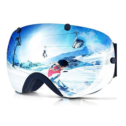 Zionor XA Dual Lens Flat Light Ski Goggles