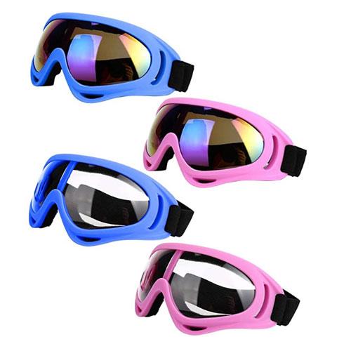 LJDJ 4-Pack Flat Light Ski Goggles