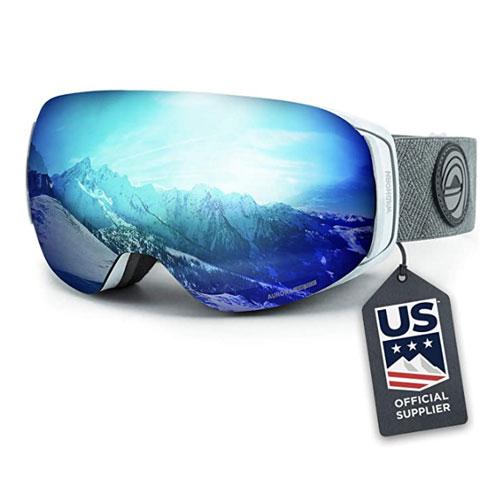 WildHorn Roca Flat Light Ski Goggles