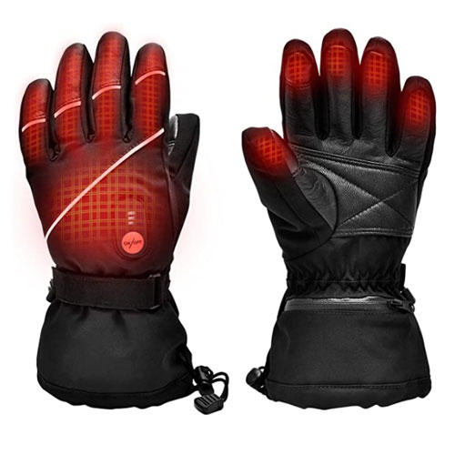 Snow Deer Electric Rechargeable Heated Gloves