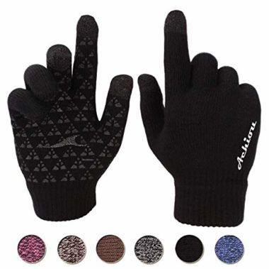 Achiou Winter Knit Thermal Touch Screen Gloves