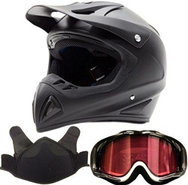 Typhoon K27 Snocross Snowmobile Helmet & Goggle Combo