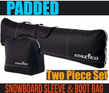 Athletico Two-Piece Padded Boot and Snowboard Bags