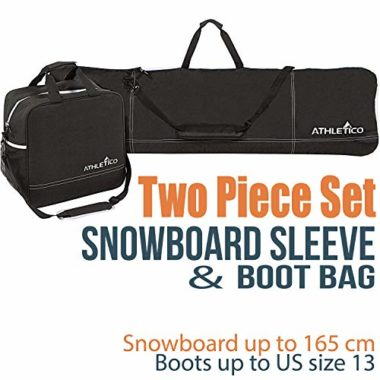 Athletico Two-Piece Unpadded Boot and Snowboard Bags