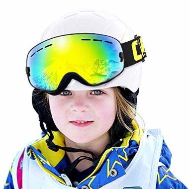 COPOZZ Helmet Compatible OTG Kids Ski Goggles