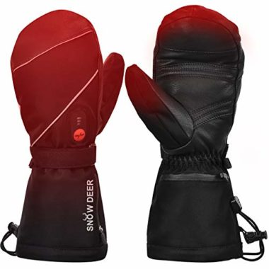 Snow Deer Mittens Heated Gloves