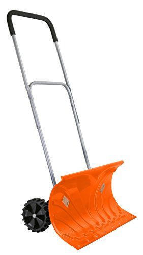 Ivation Heavy Duty Rolling Snow Shovel