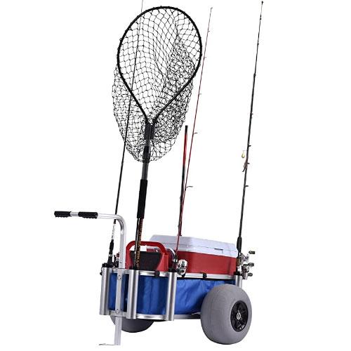 Muscle Carts HDBC-Blue Fishing Cart
