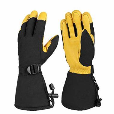 OZERO Water-Resistant Snowmobile Gloves