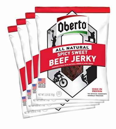 Oberto All-Natural Beef Jerky Hiking Snack