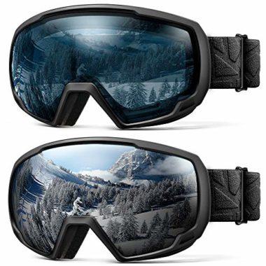 OutdoorMaster Helmet Compatible Kids Ski Goggles