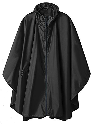 SaphiRose Women's Hooded Rain Poncho