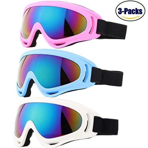 Yidomto Pack of 3 Kids Ski Goggles