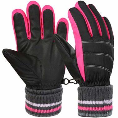 VBIGER Stretchy Kids Ski Gloves