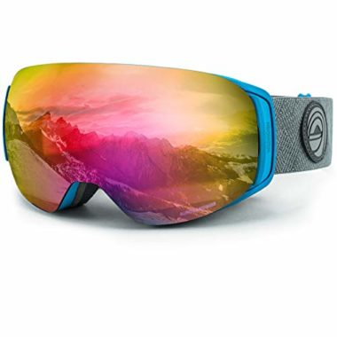 WildHorn Outfitters Roca Premium Kids Ski Goggles