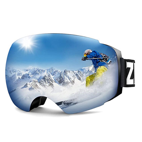 Zionor X4 Dual Layer Flat Light Ski Goggles