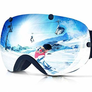 Zionor XA Dual Lens Flat-Light Goggles For Skiing