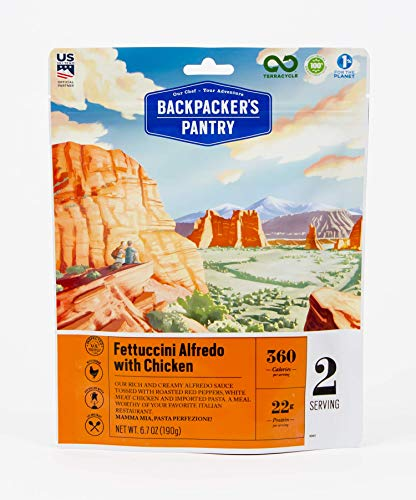 Backpacker's Pantry Fettuccine Alfredo Freeze Dried Food For Backpacking