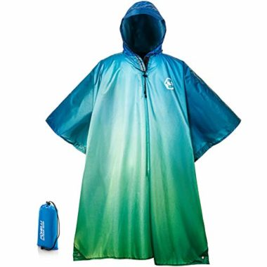Foxelli Hooded Lightweight Rain Poncho