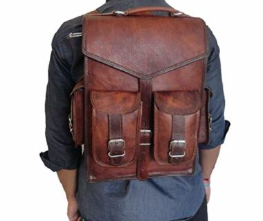 Handmade World Vintage Brown Leather Backpack