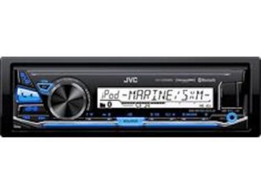 JVC Single-DIN Bluetooth Marine Stereo