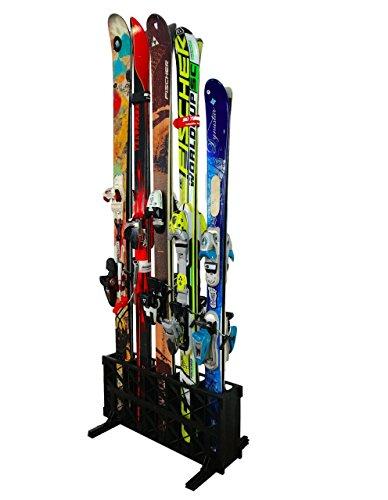 StoreYourBoard Freestanding Snowboard And Ski Wall Rack