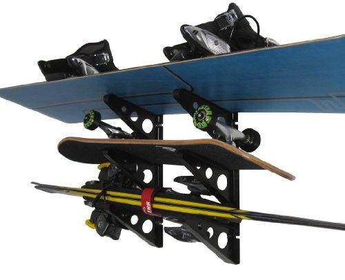 StoreYourBoard Storage Snowboard And Ski Wall Rack