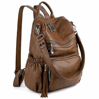 UTO Women's Washed Leather Backpack