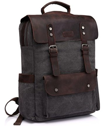 VASCHY Casual Leather Backpack