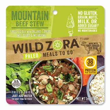 Wild Zora Mountain Beef Stew Freeze Dried Foods For Backpacking