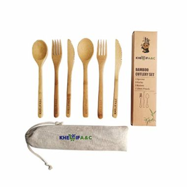Khelif A&C Bamboo Eco-Friendly Camping Utensils