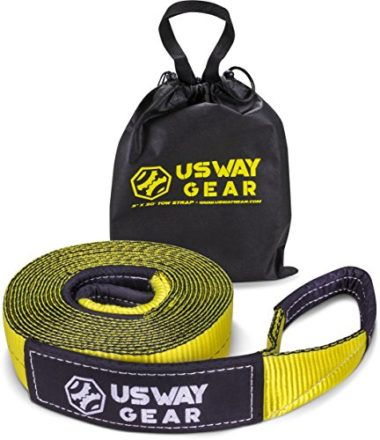 USWAY Gear Emergency Recovery Snowmobile Tow Strap