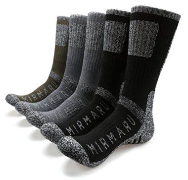 MIRMARU Men's Multi Performance Summer Hiking Socks