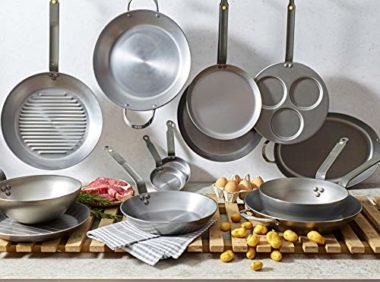 De Buyer MINERAL B Carbon Steel Frying Pan for Fish