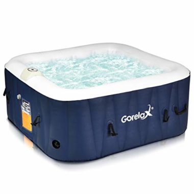 Goplus Portable Outdoor 4 Person Hot Tub