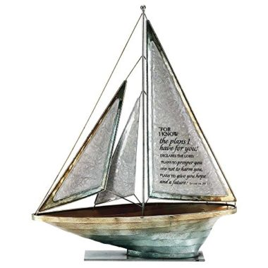 Dicksons Metal Tabletop Sailboat Figurine Decoration