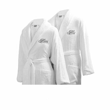 Luxor Linens Couple's Terry Egyptian Cloth Bathrobe