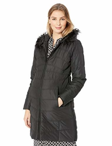 Motherhood Maternity Women's Quilted Puffer Maternity Winter Coat