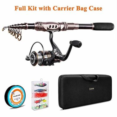 PLUSINNO Carbon Fiber Fishing Rod and Reel Combo