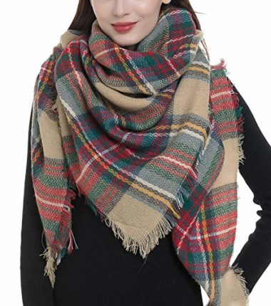 Dimore Oversized Plaid Men's Scarf