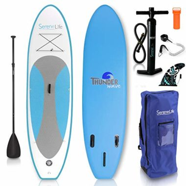 SereneLife Inflatable Stand Up Paddleboard